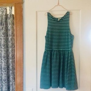 Cute blue and green frenchi dress sime medium